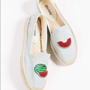 Soludos watermelon espadrille loafers